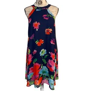 Floral tunic casual or lounge dress